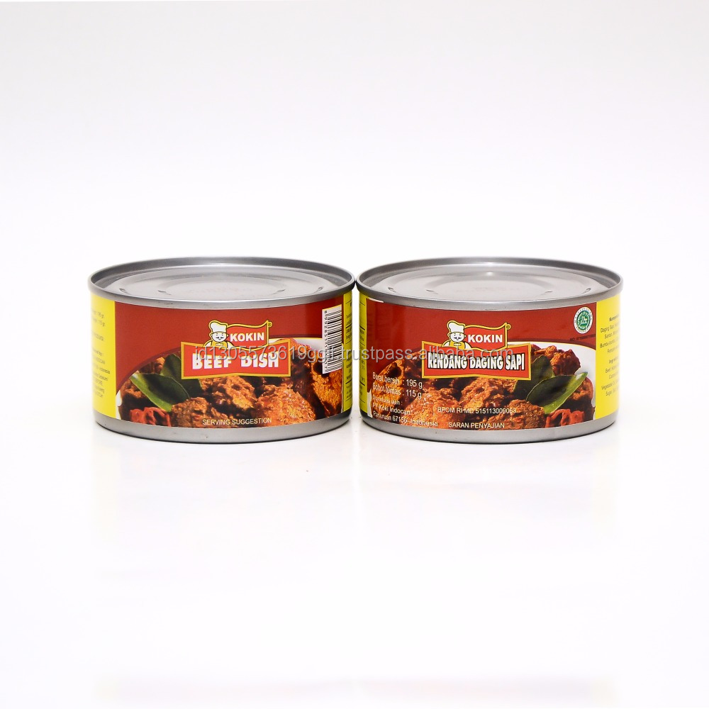 Best Quality Canned Beef Indonesian Rendang Meat Mixed with Red Bean 195g