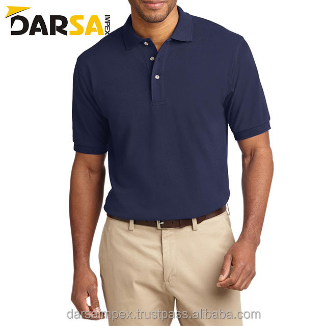 new store logo round neck polo shirts and round bottom-polo shirts for man