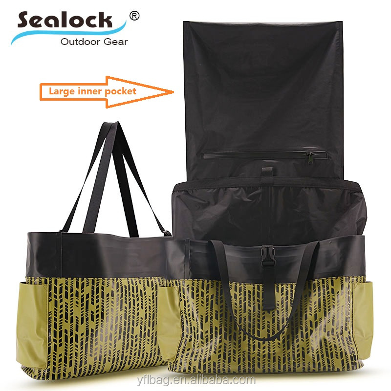2018 newstyle PVC 100% waterproof tote bag lady handle bag for shopping