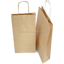 Custom made take away fast food kraft paper bag