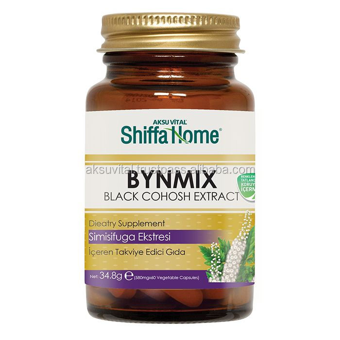 BYNMIX Actaea Racemosa Black Cohosh Extract Capsules Herbal Relief of Menopausal Menstrual Problems ...