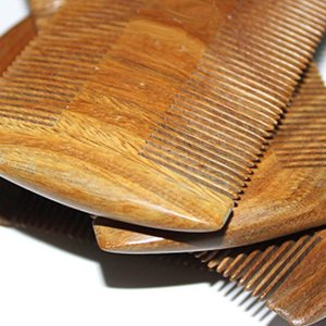 Super Narrow Tooth Wood Combs No Static Lice Pet Beard Comb