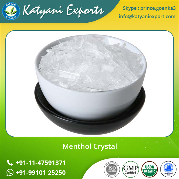 Wholesale Natural Food Flavoring Agent Menthol Crystal