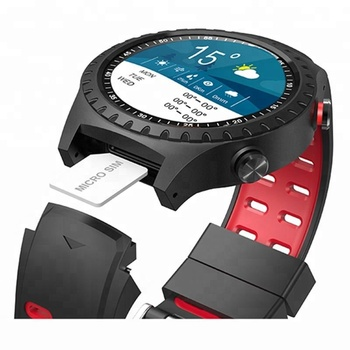 GSM card smart watch with 9 axis sensor heart rate monitor and music control IP67 waterproof