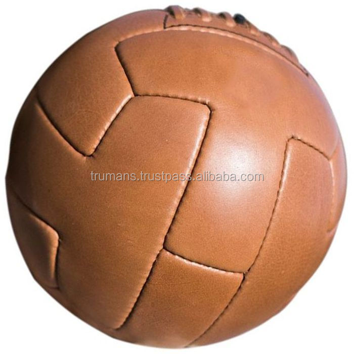 Genuine Leather Vintage Style Football Old Fashion Antique Soccer Ball