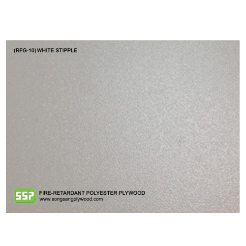 Fire-Retardant Polyester Coated Plywood - White Stipple