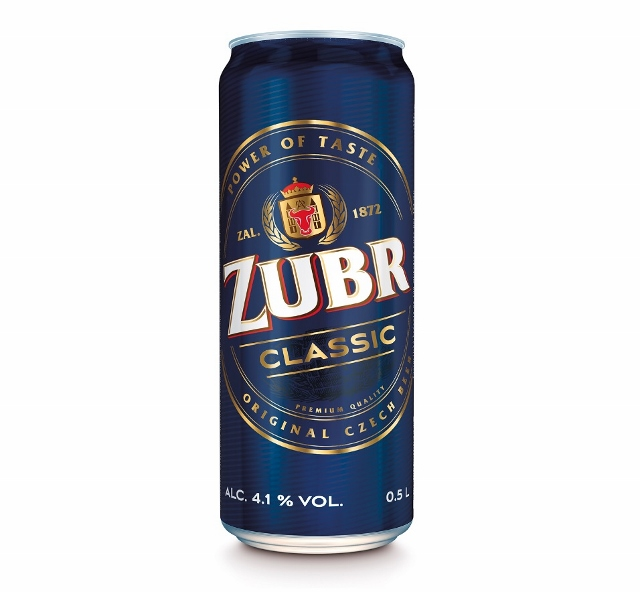 Czech Premium quality beer Zubr Classic can 500 ml