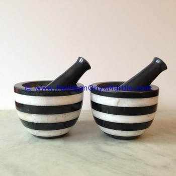EXPORT QUALITY MARBLE MORTAR PESTLE MULTI STONE MARBLE