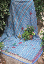Indian Vintage Cotton Sari Kantha Quilts Heavy handmade Recycled cotton kantha rugs Old Antiques blankets