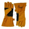 Heat Resistant Cow Split Leather Welding Safety Gloves SG-1015