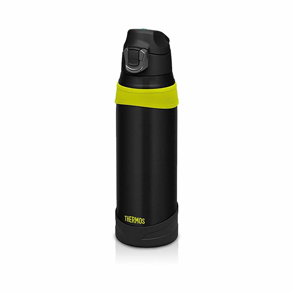Black with Yellow Sport Water Bottle Vacuum Flasks