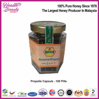 Pure Natural High Quality Propolis Capsule In Malaysia