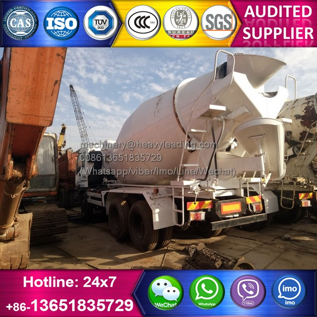 8CBM cement mixer Isuzu CXZ51 6x4 concrete truck for sale