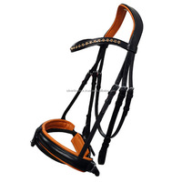 soft padded horse leather bridle.