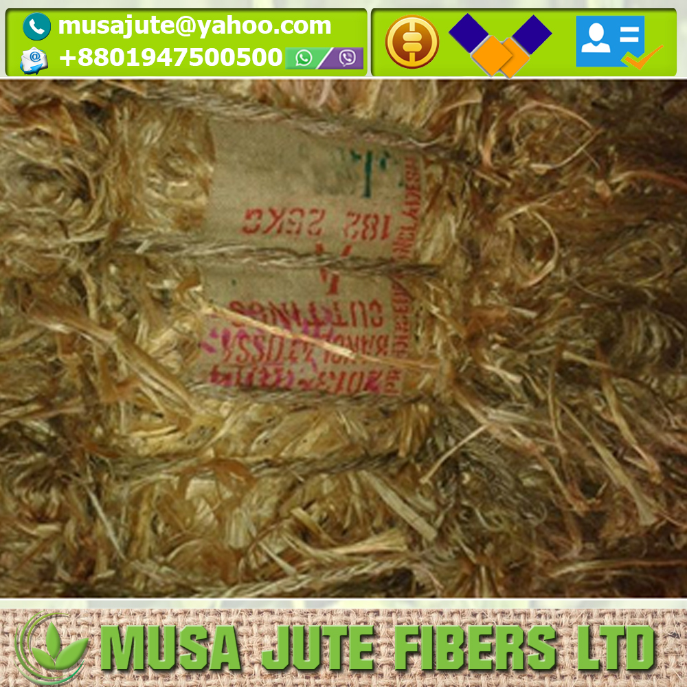 Natural THE NET WEIGHT WILL BE DEDUCTED ACCORDINGLY Cuttings BTCA Spinning Raw Jute Fiber