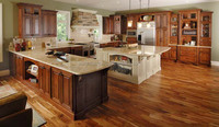 Modern standard solid wooden kitchen cabinet furniture design