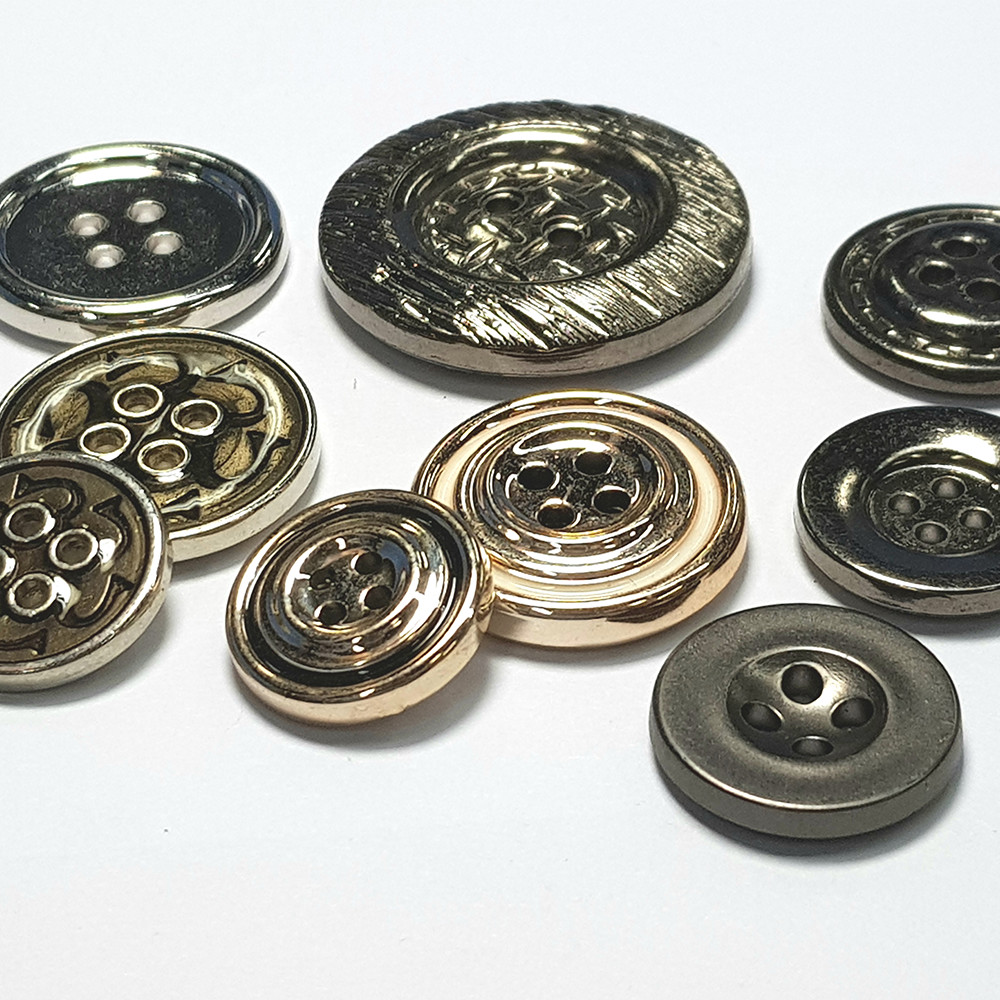 4 Holes Custom Garment Clothing Accessories plated plastic ABS Epoxy sewing Buttons