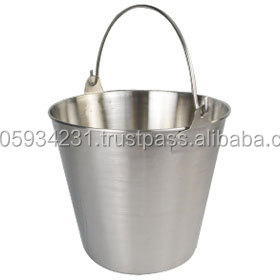 1 quart- stainless steel Pail bucket with handle