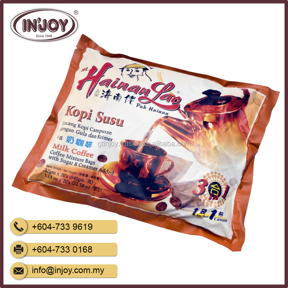 Traditional - Hainan Lao brand Kopi Susu Instant Coffee with Sugar & Creamer Added
