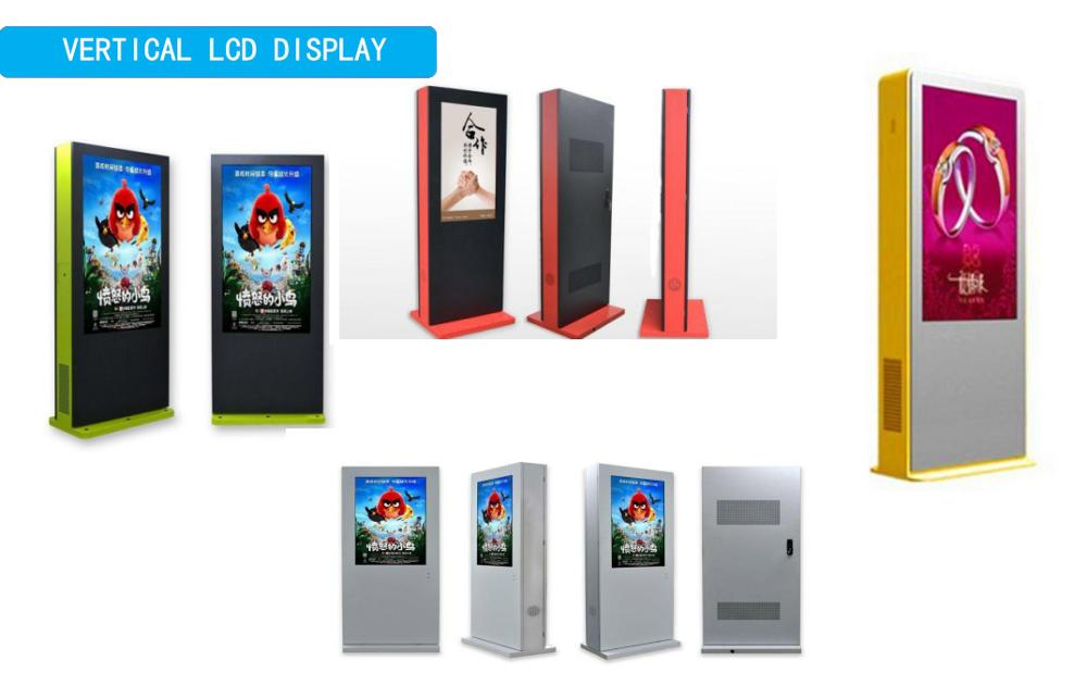 42-65 inch outdoor floor standing window or Android system digital advertising signage with full touch screen
