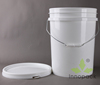 leakproof airtight paint sealer 5 gallon plastic bucket with handle and lid