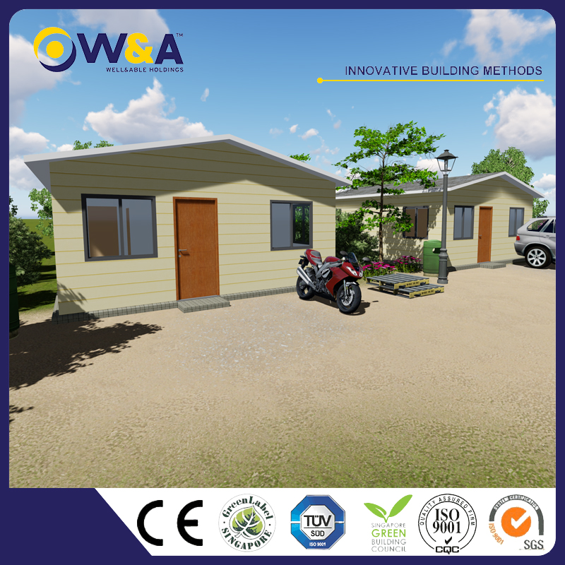 (WAS1015-45D)China 2 Bedrooms Prefabricated Houses Modern Cheap Prefab Homes for Sale