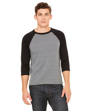 Custom made wholesale Men Raglan 3/4 Sleeve baseball T-Shirt