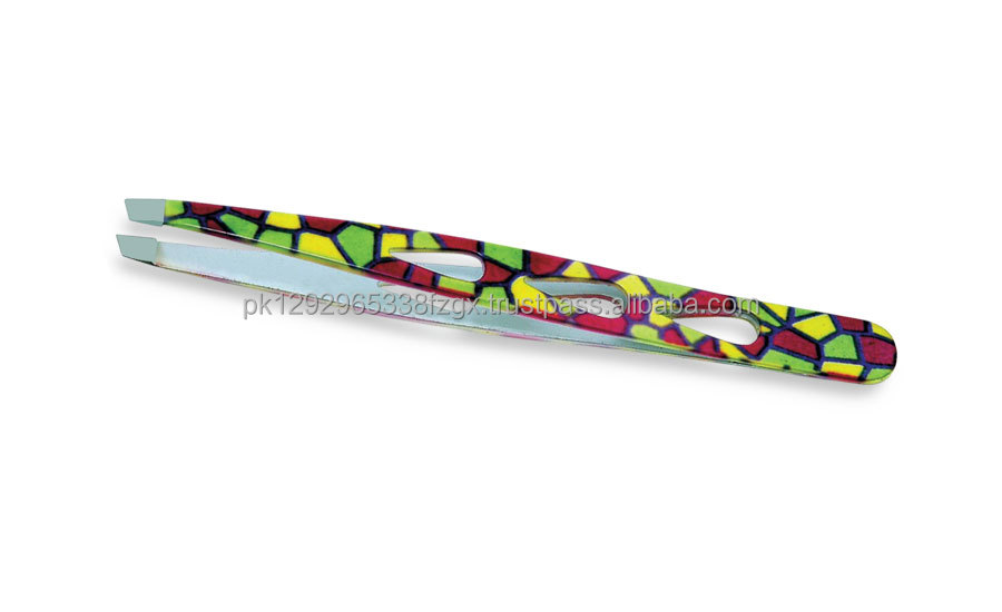 Tiles pattern eyebrow tweezer with high quality material