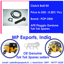 Genuine Tuk Tuk Spares Clutch Bolt Kit
