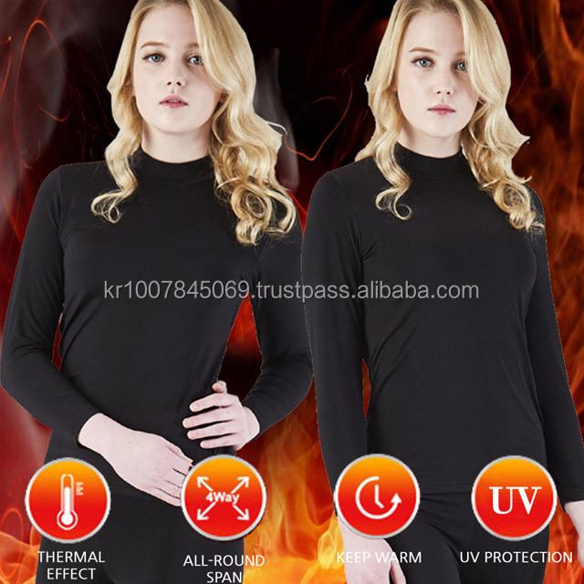 Women Winter heated thermal long johns Underwear (air warn microfiber , slim fit) ladies inner wear
