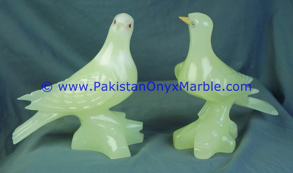 PAKISTAN SUPPLIER ONYX CARVED ONYX DOVE STATUE