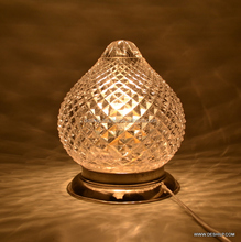 Clear Cut Glass Table Lamp, Decorated lamp Antique glass mosaic table lamp showpiece