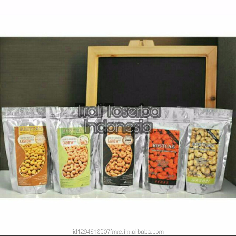 Rostcas Roasted Cashew Nuts 197gr Black Pepper, Garlic, Mayonnaise, Hot Spicy, HotWasabi No Preservatives & MSG