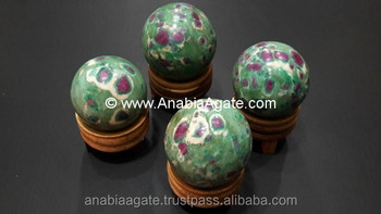 Wholesale gemstone Natural Ruby in Fuchsite Sphere For Sale