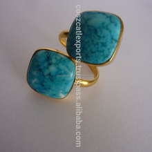 925 Sterling Silver Gold filled Turquoise Gemstone Ring for sale Alibaba