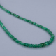 Zambian Green Emerald Micro Faceted Rondelles Beaded Necklace