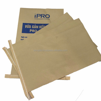 40 kg mortar packaging 2 layer PP plastic and Kraft paper bag
