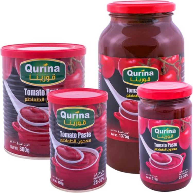 Natural tomato paste 100%, high tomato paste concentration 28-30% with 2-3% salt