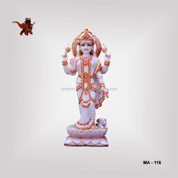 Marble Standing Painted Laxmi