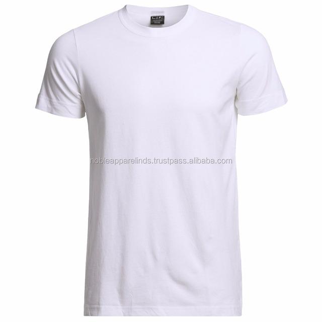 Fashion 100% Cotton Cheap Men's Custom Plain T-shirt color white nice design for boy