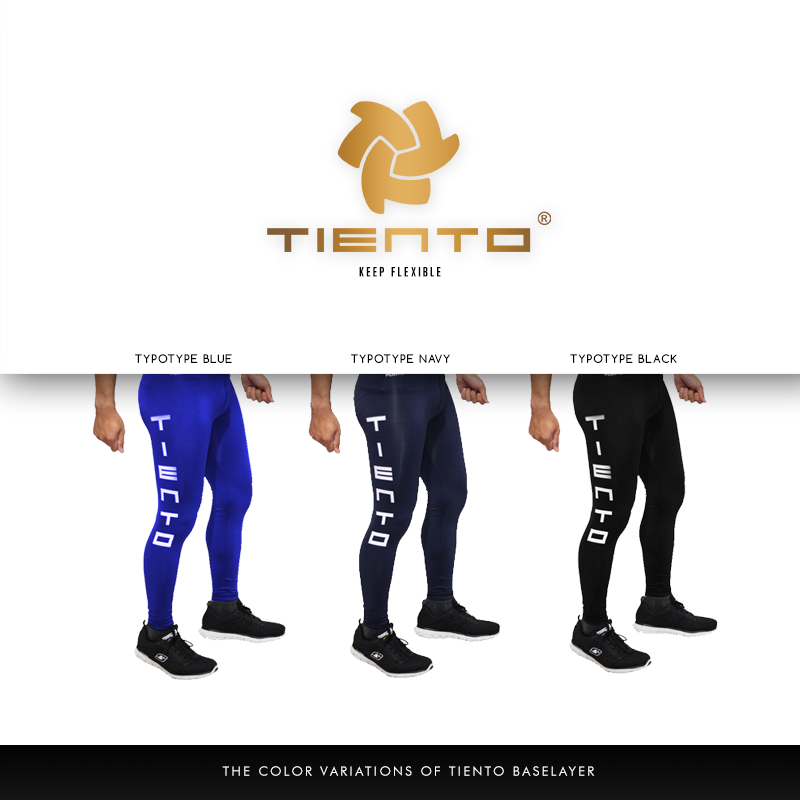 Tiento Unisex Baselayer Tight Compression Leggings Long Pants Typotype All Sports