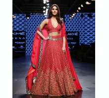 Wedding red bridal lehenga