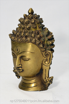 One faced buddha head statue/golden buddha statue