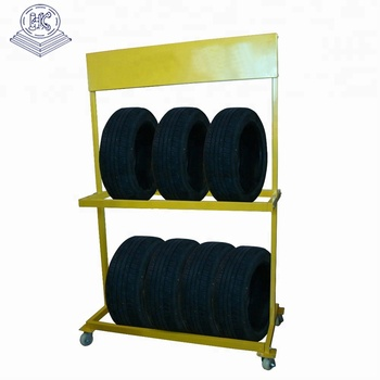 warehouse use heavy duty car accessories display stand with wheel