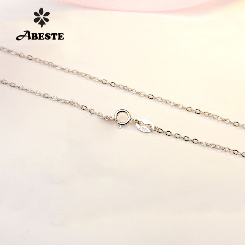 ABESTE Wholesale Fashion Jewelry 925 Sterling Silver Cross Chains Classic Style