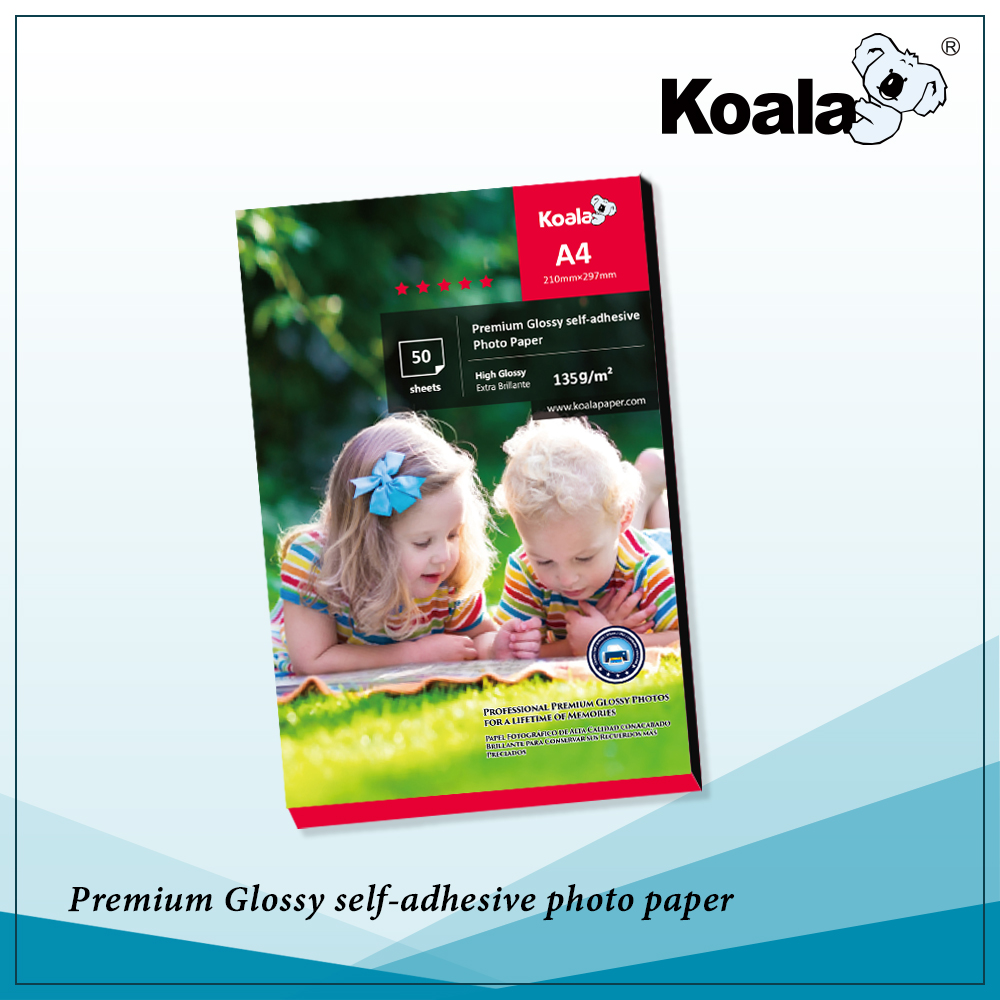 Koala Waterproof A4 Glossy Photo paper, 115-260gsm premium Inkjet high glossy photo paper