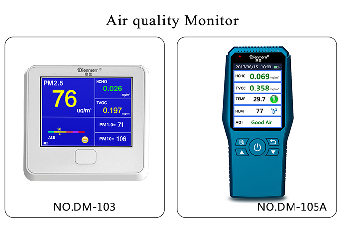 Handheld Formaldehyde TVOC Detector Monitor - include Large LCD Display for Home Car and Outdoor Use