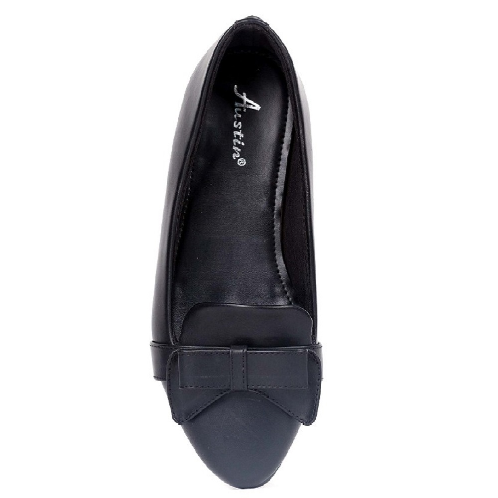 New Latest Design Austin Flats Stevina AM803C703 Black Woman Shoes from Indonesia
