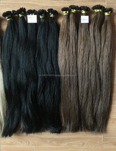 Best sale 2017 wholesale large quantity kinky straight hair extension shiny virgin Brazilian hair natural color 100% human hair