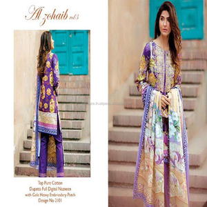 INDIAN PARTY WEAR DRESS-WHOLESALE PAKISTANi Lawn Cotton DRESS-EMBROIDERY WORK SUIT